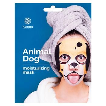 Маска для обличчя Fabrik Cosmetology Animal Dog Зволожувальна з принтом біоцелюлозна 34г