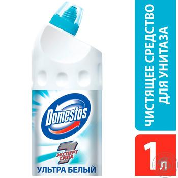 Domestos Эксперт сила 7 Чистящее средство для унитаза Ультра белый 1л - купить, цены на Метро - фото 2