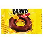 Кекс Brawo Donut з банановою начинкою у какао-молочній глазурі 50г
