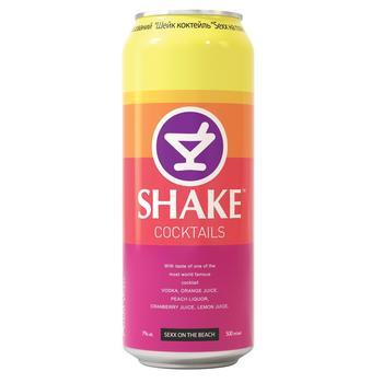 Напій Шейк Секс на пляжі слабоалкогольний газований 7% об. 500мл - купити, ціни на CітіМаркет - фото 1