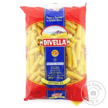 Макарони Divella Elicoidali №22 500г - купити, ціни на УльтраМаркет - фото 1