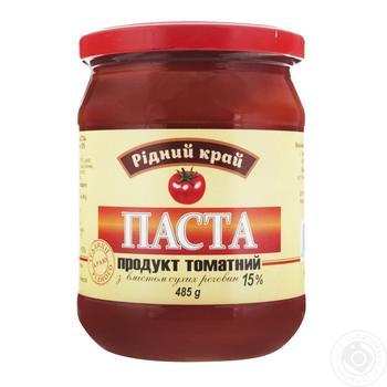 Паста томатная Родной край 15% 485г