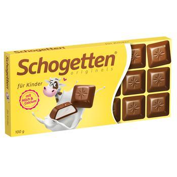 Шоколад Schogetten For Kids молочний 185г