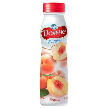 Dolce Peach Flavored Yogurt 2,5% 290g - buy, prices for CityMarket - photo 1