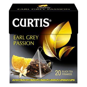 Чай Curtis Earl Grey Passion чорний в пірамідках 20шт*1,7г - купити, ціни на Ашан - фото 1