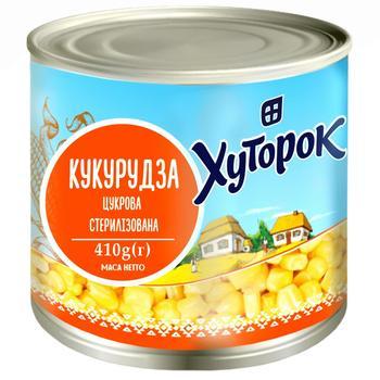 Кукуруза Хуторок сахарная 410г - купить, цены на Ашан - фото 1