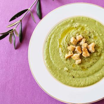 Крем-суп из шпината с имбирем