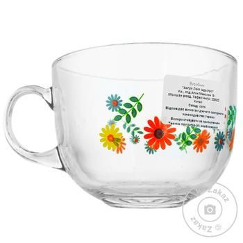 Mixed glass cup 500ml