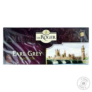 Чай Sir Roger Earl Grey черный 2г*25шт - купить, цены на Фуршет - фото 1