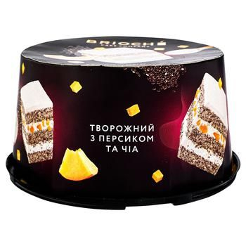 Вrioshe Curd Cake with Peach and Chia 500g - buy, prices for Auchan - photo 1