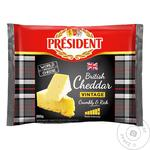 Cheese cheddar President hard 48% 200g