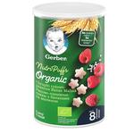 Gerber Organic Nutri Puffs Rice-Wheat With Banana And Raspberry Snack 35g