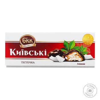 Тістечка БКК Київські з кокосом 200г - купити, ціни на МегаМаркет - фото 1