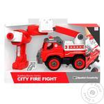 Игрушка конструктор Qunxing Toys пожарная машина