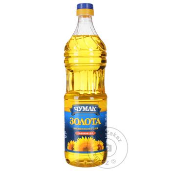 Chumak sunflower refined oil 900ml - buy, prices for Novus - image 1