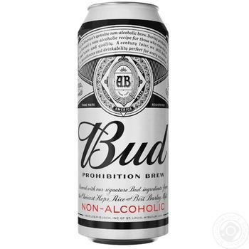 Пиво Bud безалкогольное светлое 0,5л