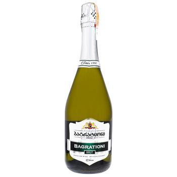 Вино игристое Bagrationi Классическое белое сухое 12% 0,75л