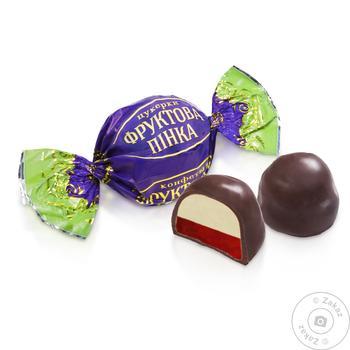 Конфеты Бисквит-Шоколад фруктовая пенка