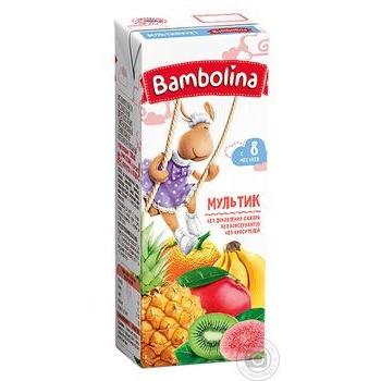 Сок Bambolina Мультифрукт 200мл - купить, цены на Novus - фото 1