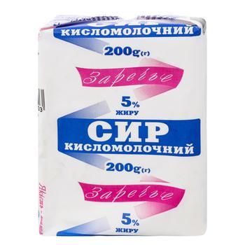 Сир кисломолочний Заречье 5% 200г - купити, ціни на Ашан - фото 1