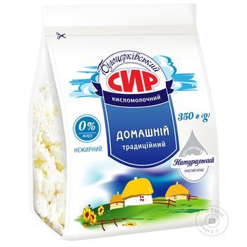 Сир Білоцерковський кисломолочный нежирный 0% 350г - купити, ціни на Ашан - фото 1