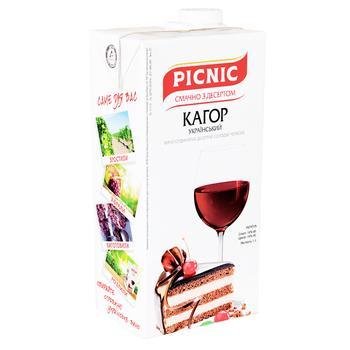 Вино Picnic Кагор десертное сладкое красное 1л - купить, цены на Фуршет - фото 1