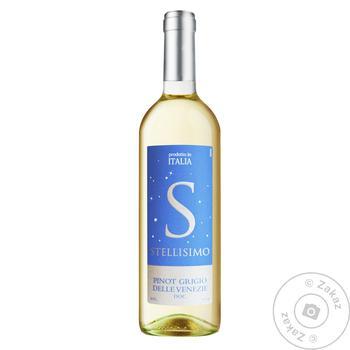 Вино Stellisimo Pinot Grigio Delle Venezie белое сухое 12% 0,75л
