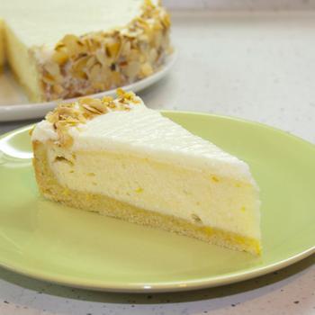 Лимонный творожный торт