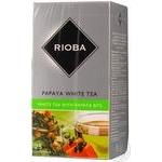 Чай Rioba білий китайський байховий зі шматочками папайї в пакетиках 25*2г