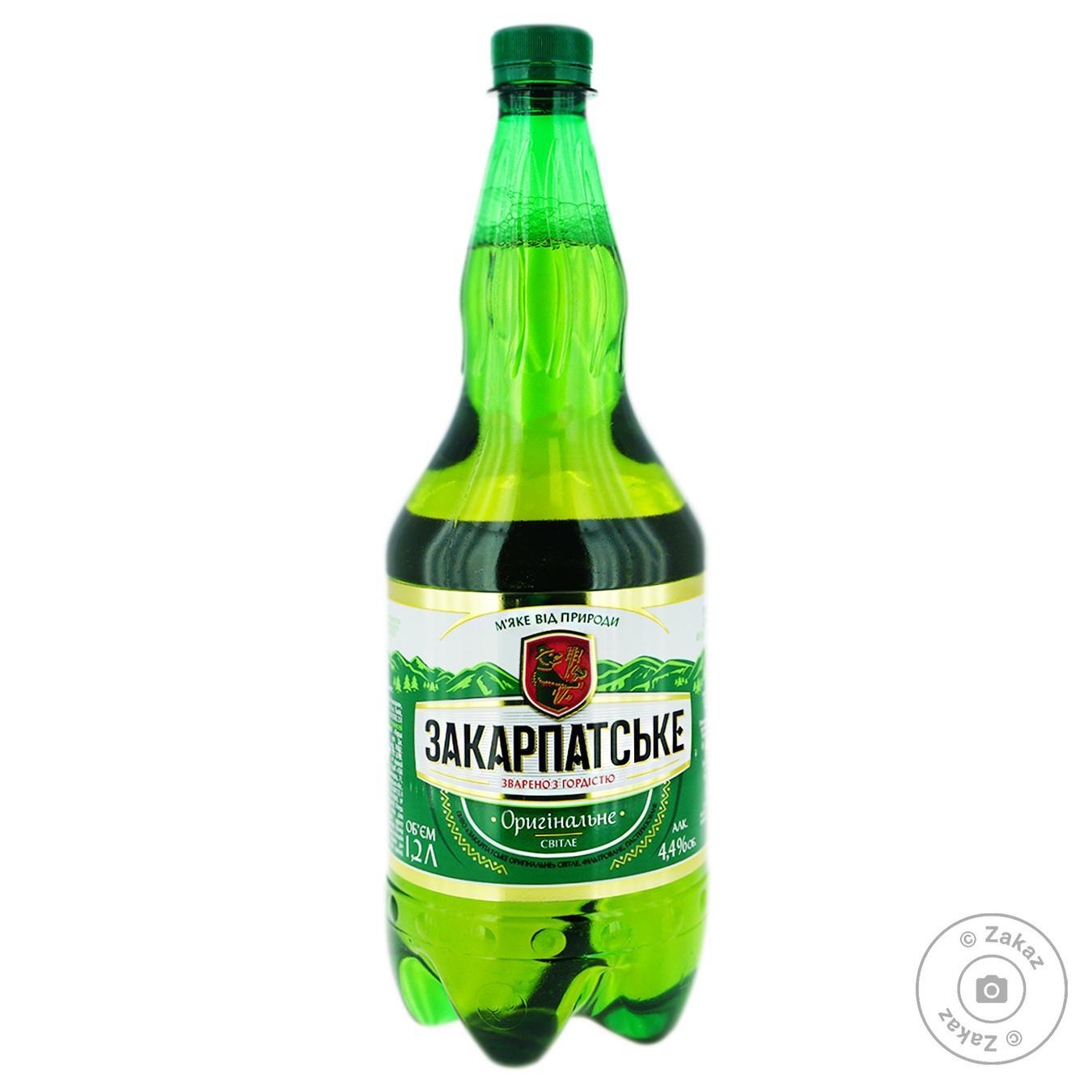 Пиво Перша приватна броварня Закарпатское Оригинальное светлое 4,4% 1,2л