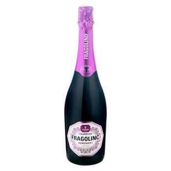 Напиток винный Tairovo Fragolino красное полусладкое 6-6.9% 0.75л