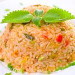 Салат с рисом и овощами