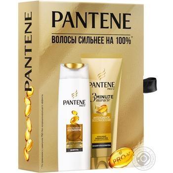 Набор подарочный Pantene Интенсивное восстановление Шампунь 250мл, бальзам 200мл - купить, цены на Novus - фото 1