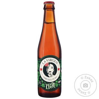 Пиво La Virgen IPA светлое нефильтрованное 6,5% 0,33л - купить, цены на МегаМаркет - фото 1