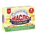 Масло Білоцерківське Селянське солодковершкове 72,6% 180г - купити, ціни на Фуршет - фото 1
