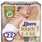 Подгузники Libero Touch 1 2-5кг 22шт