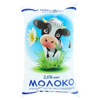 Milk 2.6% PET Narodna 880g - buy, prices for Furshet - image 1