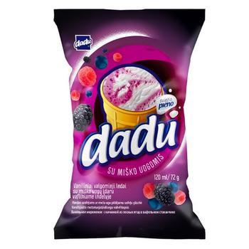 Мороженое Dadu Ваниль-Лесные Ягоды в стаканчике 120мл