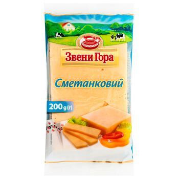 Сыр Звени Гора Сметанковый 50% 200г - купить, цены на Таврия В - фото 1