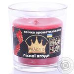 Свічка в стакані о65-79*83мм 30 год Арома червоні ягоди/6 Pragnis GA68-RBR