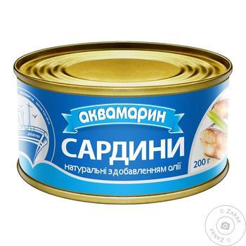 Сардина Аквамарин натуральна з додаванням олії  230г - купити, ціни на Фуршет - фото 2