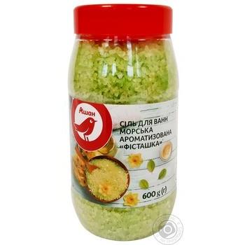 Соль для ванны Ашан Фисташка морская 600г - купить, цены на Ашан - фото 1