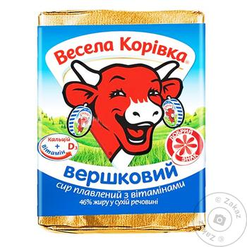 Сир Весела Корівка вершковий плавлений 46% 90г - купити, ціни на Ашан - фото 1