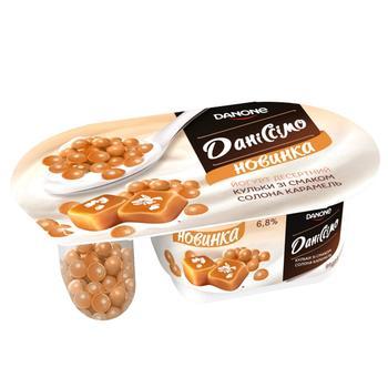 Йогурт Даніссімо Фантазия  солона карамель стакан 6,8% 99г - купити, ціни на Ашан - фото 1