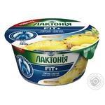 Крем творожный Лактония FIT+ с наполнителем ананас 0,2% 140г