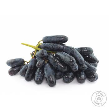 Виноград Дамський пальчик чорний ваг