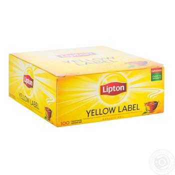 Чай черный байховый Yellow Label в пакетиках 100*2г - купить, цены на Метро - фото 1