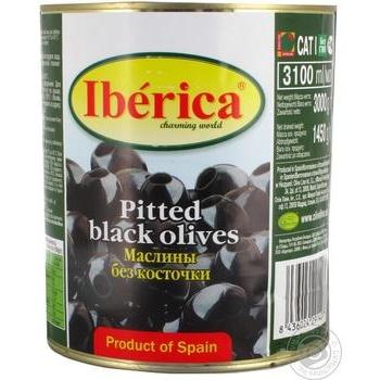 Маслины Iberica без косточки 3100мл - купить, цены на Метро - фото 1