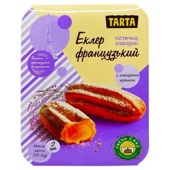 Пирожное Tarta Эклер французский с заварным кремом 110г - купить, цены на Фуршет - фото 1