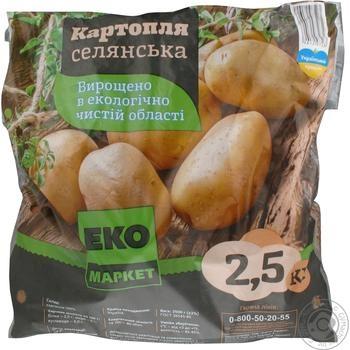 Овощи картофель Эко маркет свежая 2500г